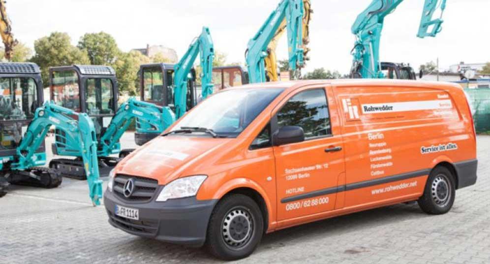 Der Baumaschinen Service der F.R. Baumaschinen GmbH
